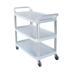 "Gray Open Sided Rubbermaid® X-Tra™ Cart - 40-5/8"" L x 20"" W x 37-13/16"" H"