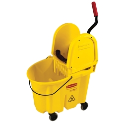"Yellow 35 Qt. WaveBrake® Down Press Combo - 20.31""L x 16.44""W x 21.63""H"