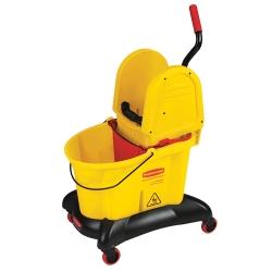 """Yellow 35 Qt. WaveBrake® Dual Water Down Press Combo - 22.4""""L x 38.6""""H x 16.5""""W"""
