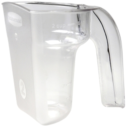 2 Cup Clear Rubbermaid® Safety Portioning Scoop