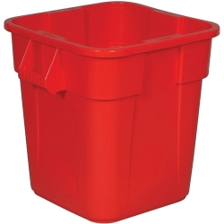 "28 Gallon Red Square Brute® Container - 21-1/2"" Sq. x 22-1/2""H"