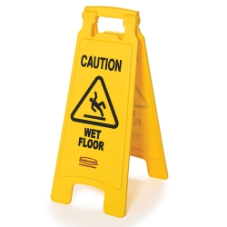 2 - Sided Wet Floor Imprint Floor Sign