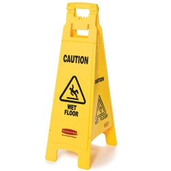 4 - Sided Wet Floor Imprint Floor Sign