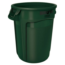 "32 Gallon Dark Green Rubbermaid® Brute® - 21.92"" Dia. x 27.77"" H"
