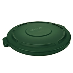 "Dark Green Lid for 32 Gallon Brute® - 22.41"" Dia. x 1.85"" H"
