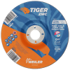 "6"" Dia. x 1/4"" Thickness x 7/8"" Arbor Hole Weiler® Tiger® Zirconia Grinding Wheel - Type 27"