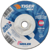 "4-1/2"" Dia. x 1/4"" Thickness x 5/8""-11 Hub Weiler® Tiger® Inox Grinding Wheel - Type 27"