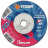 "4-1/2"" Dia. x 1/4"" Thickness x 5/8""-11 Hub Weiler® Tiger® Premium Aluminum Oxide Grinding Wheel - Type 27"