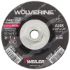 "4-1/2"" Dia. x 1/4"" Thickness x 5/8""-11 Hub Weiler® Wolverine™ Grinding Wheel - Type 27"
