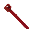 """4"""" L x 18 lbs. Tensile Strength Red Vivid Cable Ties - Pack of 100"""