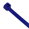 """4"""" L x 18 lbs. Tensile Strength Blue Vivid Cable Ties - Pack of 100"""