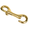 """1/2"""" x 3-1/2"""" Brass Open Eye Snap Hook"""
