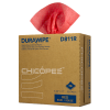 "8.75"" x 17"" Red Heavy-Duty Wipers - 70 Wipes/Pop-Up Box"