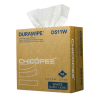 "8.75"" x 12.75"" White Light-Duty Wipers - 152 Wipes/Pop-Up Box"