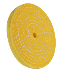 "8"" 50 Ply Treated Spiral Sewn Buffing Wheel"