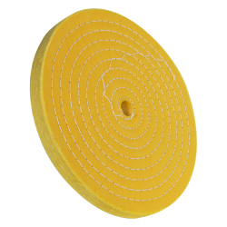 "10"" 50 Ply Treated Spiral Sewn Buffing Wheel"