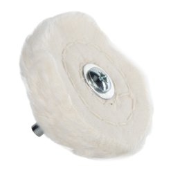 "2.5"" 35 Ply Spiral Sewn Mounted Buffing Wheel"