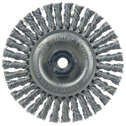 "4"" Dia. x M10x1.25 Arbor Hole Roughneck® Steel Stringer Bead Wheel"