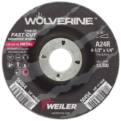 Weiler® Wolverine™ Grinding Wheels