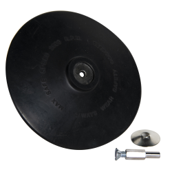 "6"" Dia. x 1/4"" Arbor Hole Rubber Backing Pad"