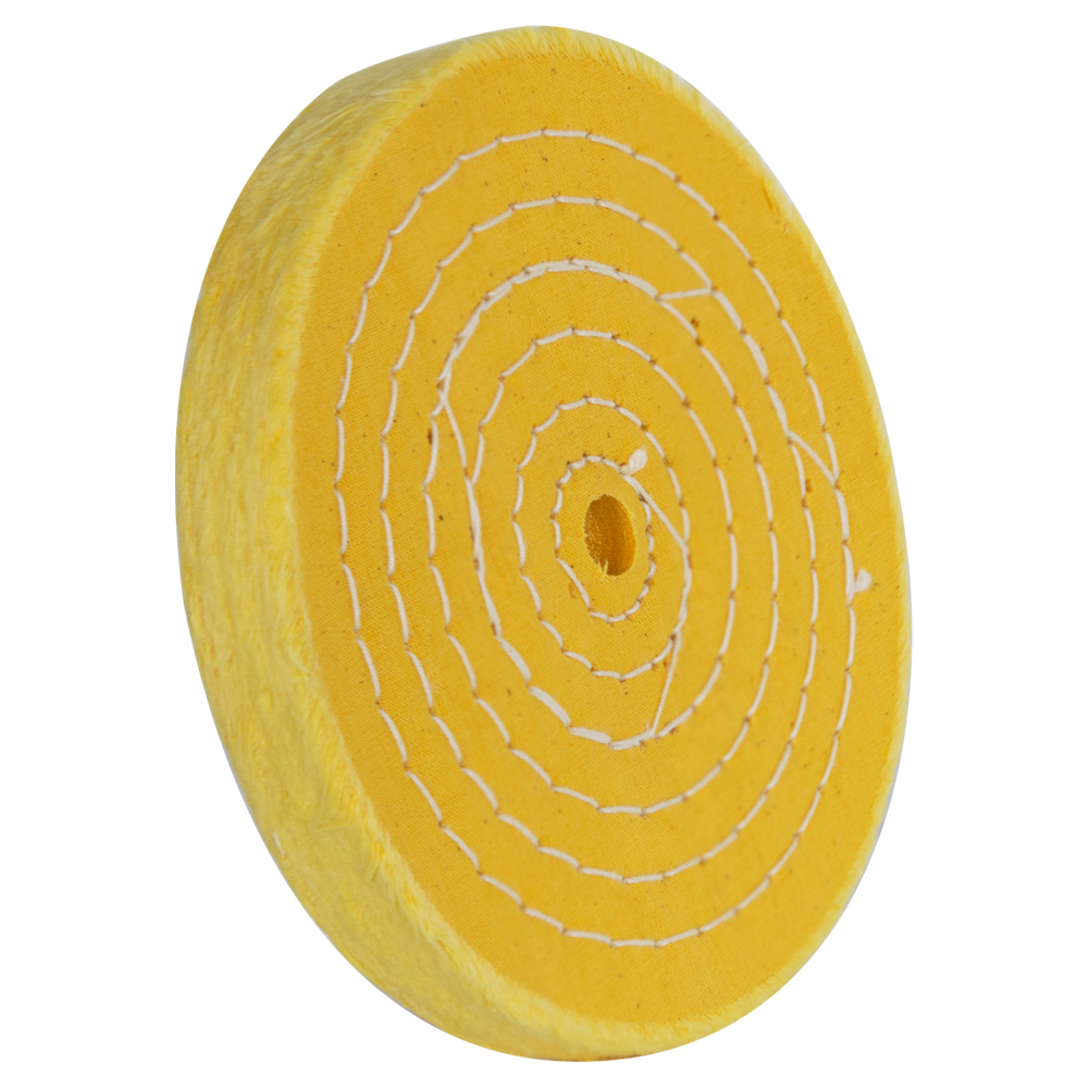 "6"" 50 Ply Treated Spiral Sewn Buffing Wheel"