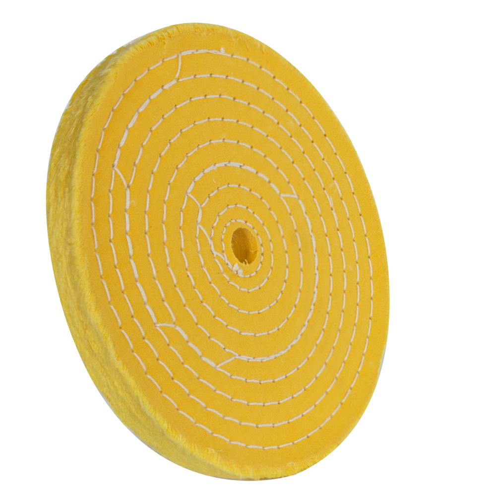 """8"""" 50 Ply Treated Spiral Sewn Buffing Wheel"""