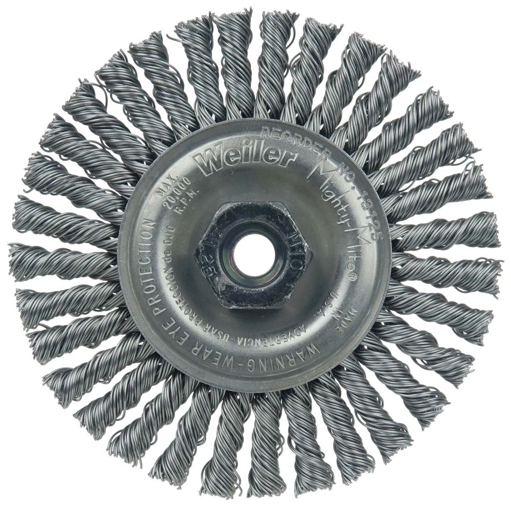 "4"" Dia. x M10x1.25 Arbor Hole Roughneck® Steel Stringer Bead Wheel"