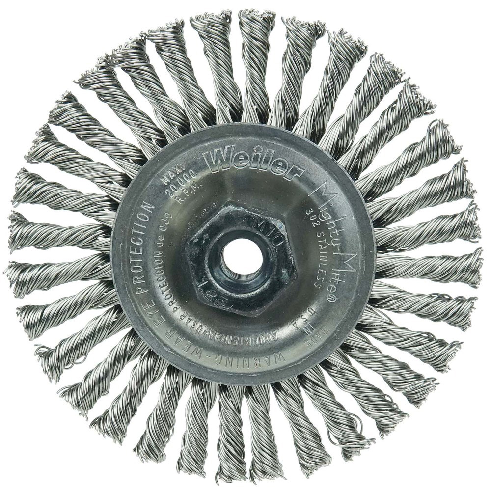 "4"" Dia. x M10x1.25 Arbor Hole Roughneck® Stainless Steel Stringer Bead Wheel"