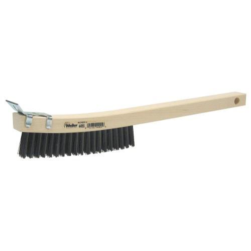 """14"""" x 1-1//8"""" Block x 6"""" L Steel Wire Scratch Brush with Scraper"""