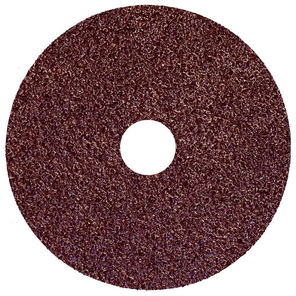 "4-1/2"" Dia. x 7/8"" Arbor Hole x 60 Grit Weiler® Wolverine Aluminum Oxide Resin Fiber Disc"