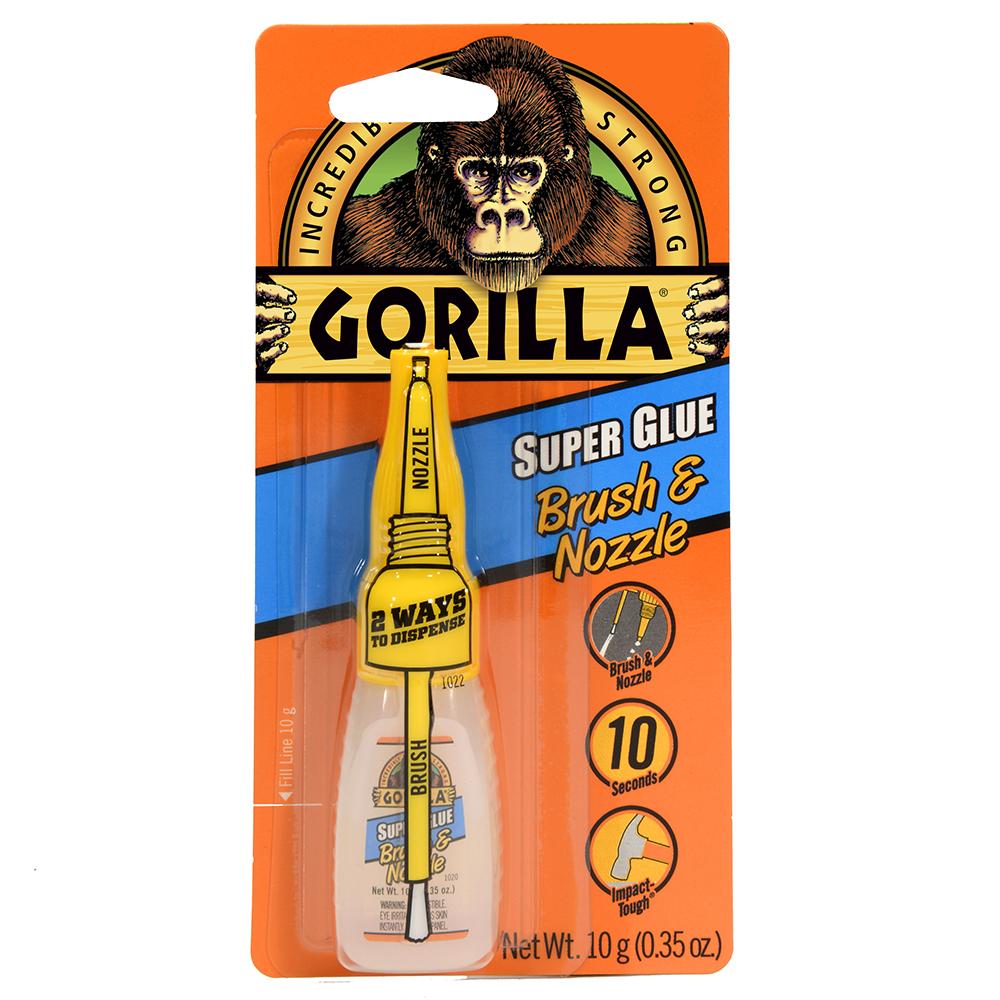 Gorilla® Super Glue with Brush & Nozzle
