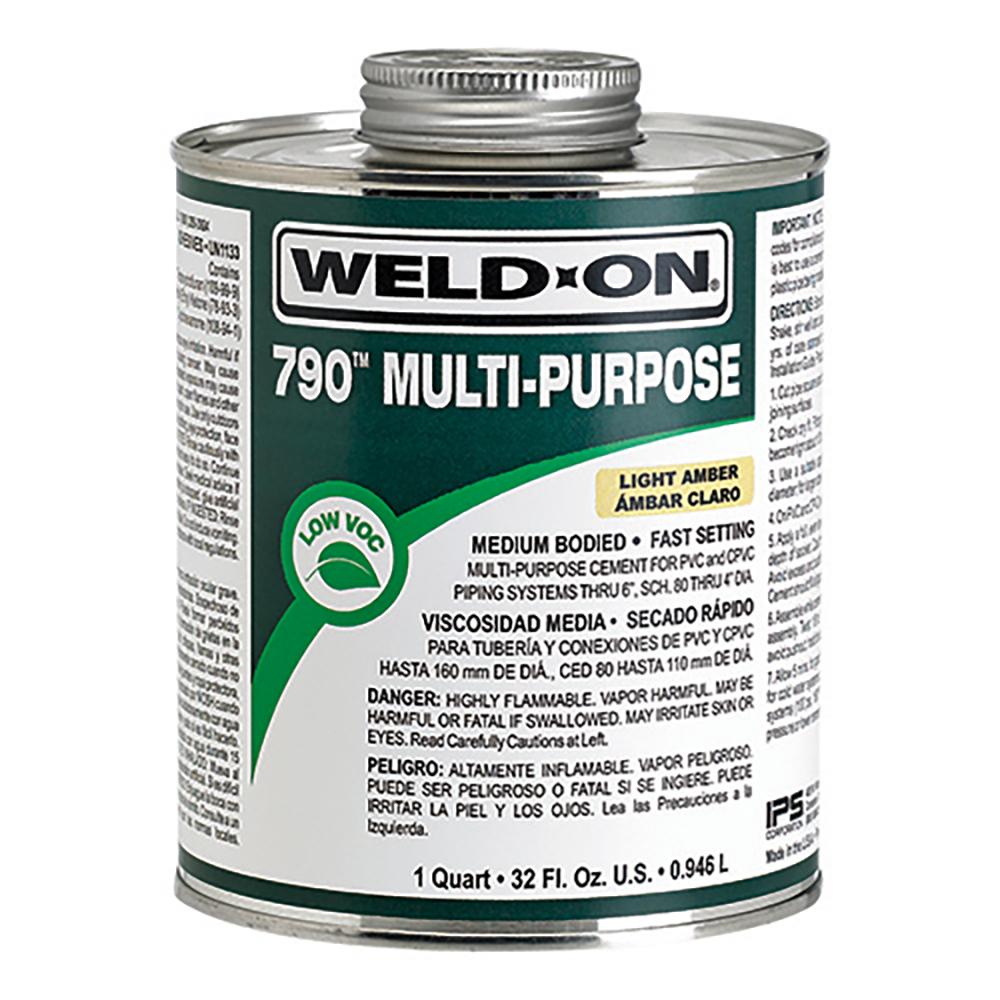 Quart Light Amber IPS® Weld-On® 790™ Multi-Purpose Cement