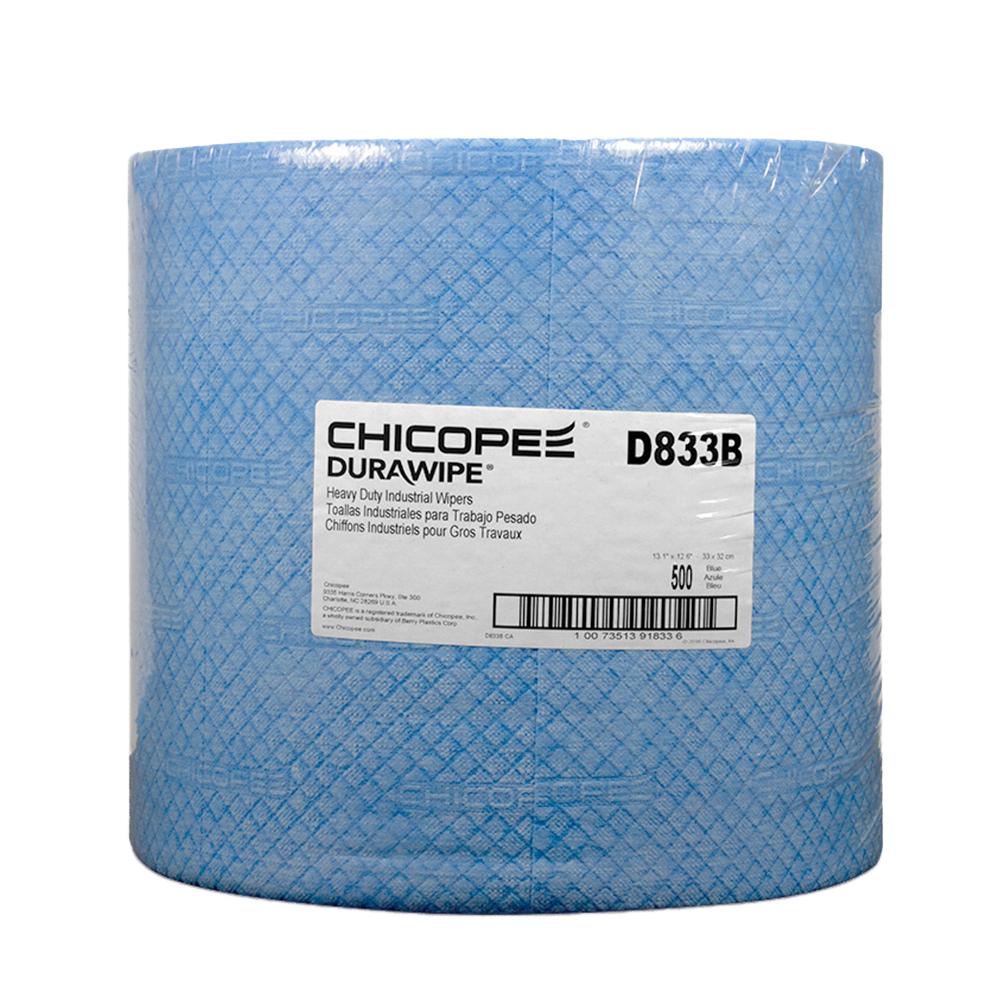 """13.12"""" x 12.6"""" Blue Head-Duty Wipers - 500 Wipes/Jumbo Pack"""