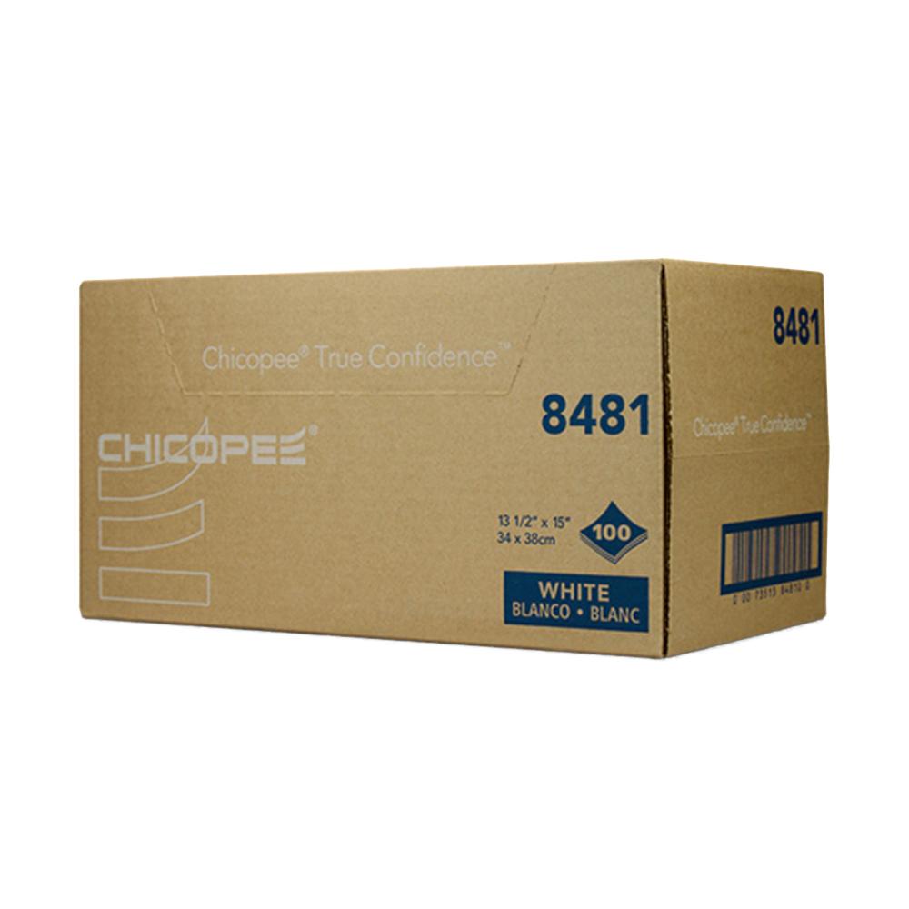 "13.5"" x 15"" White Shop Towel - 100/Z Fold Pack"