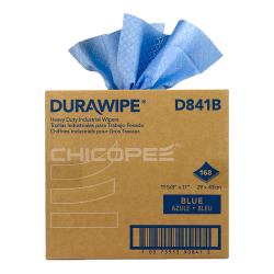 "11.6"" x 17"" Blue Heavy-Duty Wipers - 168 Wipes/Pop-Up Box"