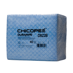 "11.6"" x 13"" Blue Heavy-Duty Wipers - 40 Wipes/1/4 Fold Pack"
