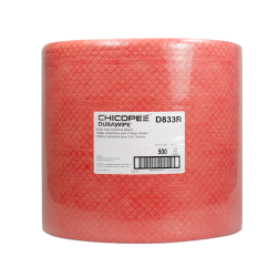 "13.12"" x 12.6"" Red Head-Duty Wipers - 500 Wipes/Jumbo Pack"