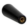 "1/4-20 Thread - 1""W Dome-Top Black Phenolic Handle"