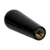 "1/2-13 Thread - 1-3/8""W Dome-Top Black Phenolic Handle"