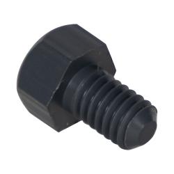 "5/16-18 Thread - 1/2"" PVC-1 Hex Head Cap Screws"
