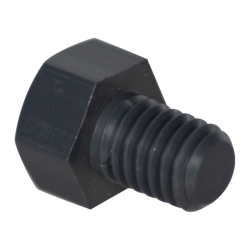 "3/8-16 Thread - 1/2"" PVC-1 Hex Head Cap Screws"