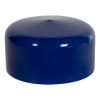 """Blue Vinyl Cap - 2"""" Cap ID x 1"""" Inside Length"""