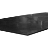 "1/2"" x 12"" x 12"" Recycled HDPE Black Sheet"
