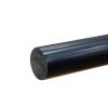 """1-3/8"""" Black PVC Rod"""