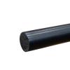 """1-1/2"""" Black PVC Rod"""