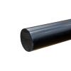 """1-3/4"""" Black PVC Rod"""