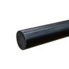 """1-7/8"""" Black PVC Rod"""