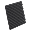 "3/8"" x 4"" x 4"" Rubber Anti-Vibration Pad"