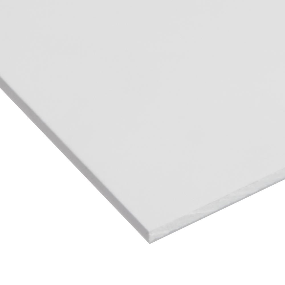 """0.120"""" x 24"""" x 24"""" White Expanded PVC Sheet"""
