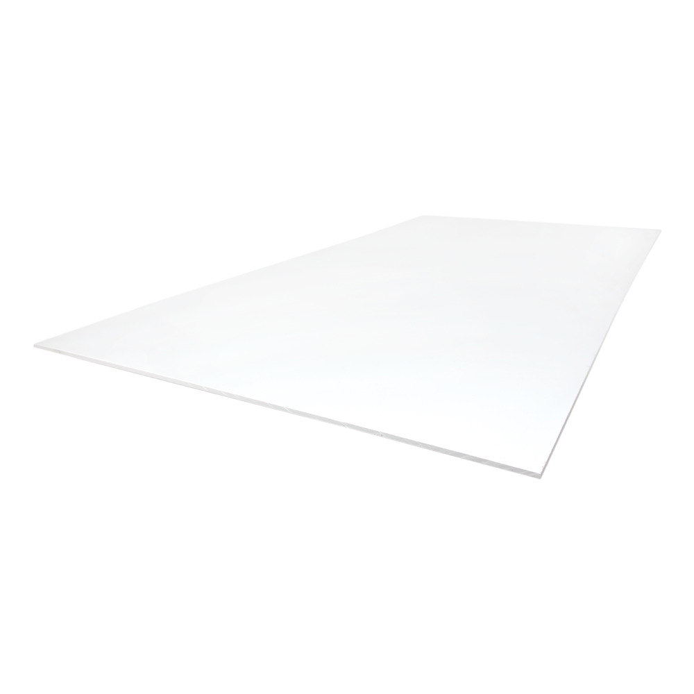 "1/2"" x 12"" x 12"" White Polypropylene Sheet"